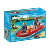 5559 Playmobil Barca Gonflabila Cu Cercetatori