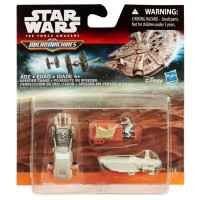 B3504 Star Wars The Force Awakens Micro Machines 3-Pack Speeder Chase
